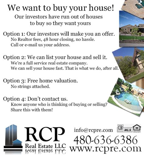 we want to sell our house our investors want to buy your house san tan valley real
