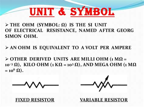 types of resistor in physics resistor and its types