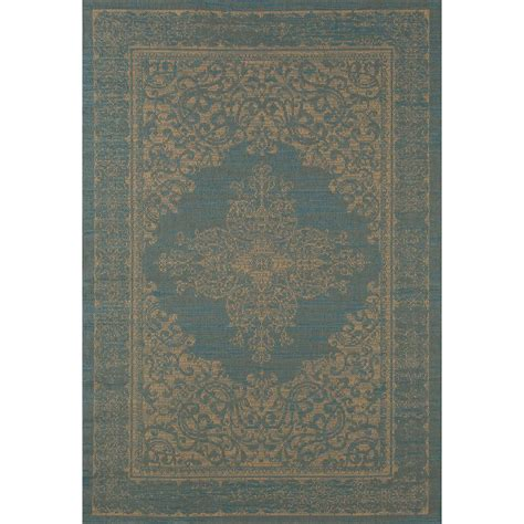 rugs plymouth carpet plymouth nest blue 5 ft 3 in x 7 ft 7 in indoor outdoor area rug 29243 the home