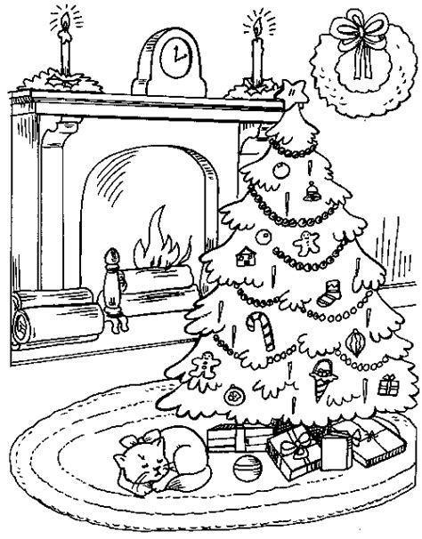 coloring page of christmas tree with presents christmas tree presents 2 familycorner com 174