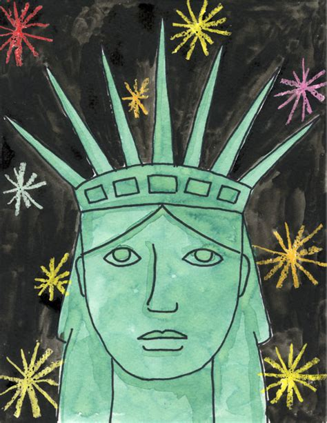 statue of liberty craft for statue of liberty portrait projects for