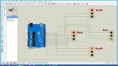 code arduino traffic light arduino based 4 way traffic light system youtube