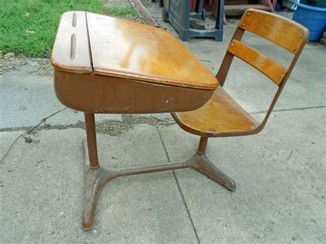 elementary desks and chairs vintage 1950 s wood elementary desk b