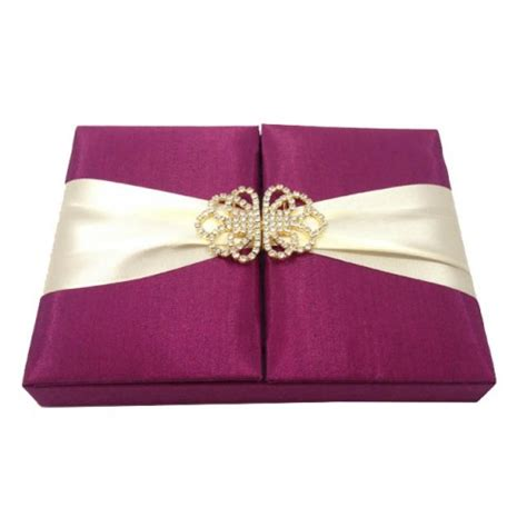purple wedding invitations boxes embellished wedding invitation box