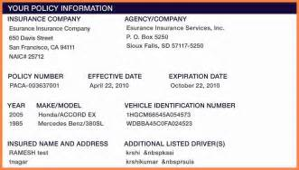 free auto insurance card template 5 insurance cards templates insurance letter