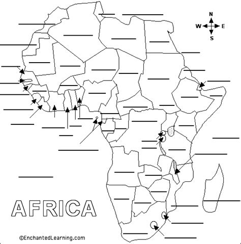 africa map fill in the blank fill in the blank map of africa