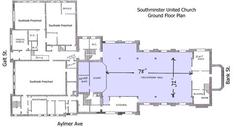 church fellowship hall floor plans help us name the stages ottawa grassroots festival