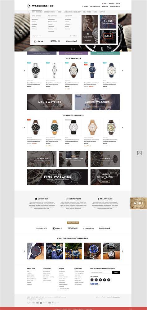 The Watches Shop Premium Responsive Bigcommerce Template Stencil Ready Themevale Com Bigcommerce Stencil Templates