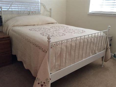 ikea metal futon frame today ikea leirvik bed frame white size iron metal