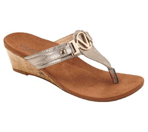 vionic shoes qvc vionic w orthaheel leather wedge sandals