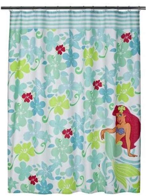 disney fabric shower curtain disney bathroom shower curtain 70x72 fabric ariel little