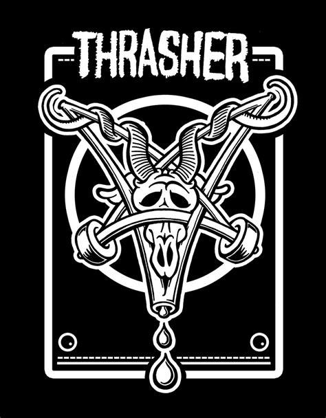 thrasher skate goat logo illustration