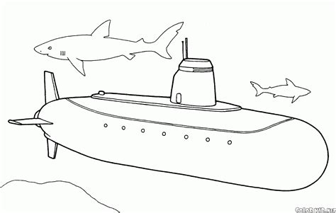 Download Or Print Out The Coloring Page Nuclear Submarine sketch template