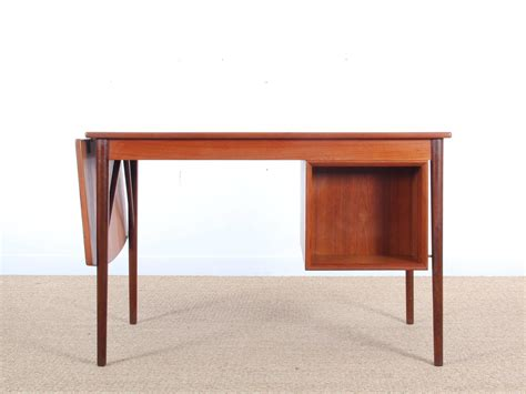 modern writing desk mid century modern writing desk in teak at 1stdibs