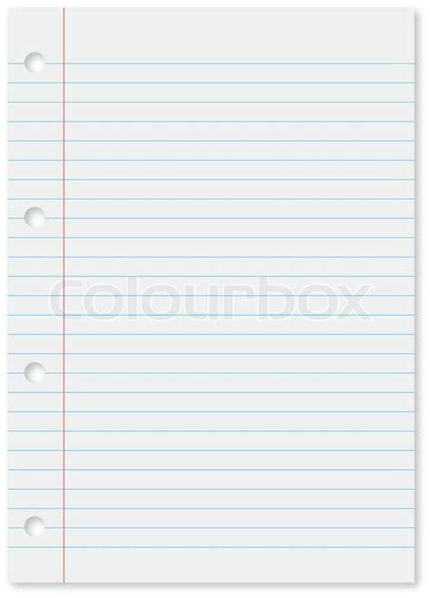 Word Vorlage Liniertes Papier Wei 223 Es Blatt Liniertes Papier Mit D 252 Nnen Bue Linien Und L 246 Cher Auf Der Linken Seite Stock