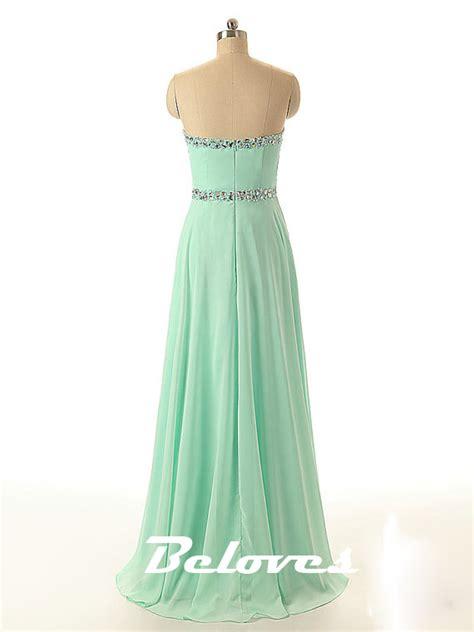 mint green beaded dress mint green chiffon beaded sweetheart prom dress 183 beloves