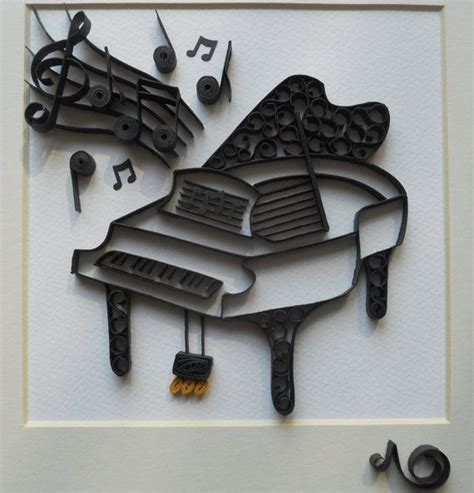 paper quilling piano tutorial the piano paper quilling pinterest pianos