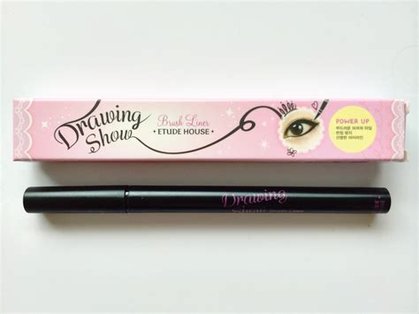 Drawing Show Brush Eyeliner review etude house drawing show brush liner black ok
