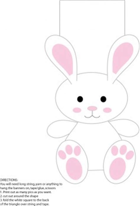 printable easter ornaments white rabbit banner easter party decorations free