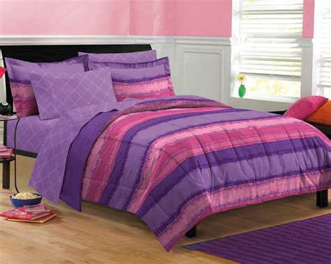 Purple Pink Teen Girl Bedding Tie Dye Twin Xl Full Queen Bed In A Bag Dorm Bed
