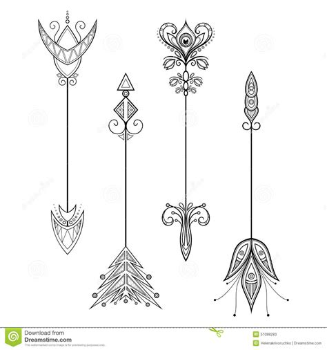 vector set of vintage arrows stock vector image 51088283