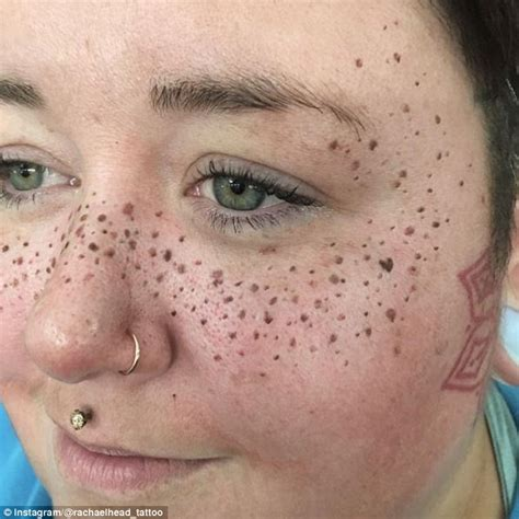 tattoo when you have freckles beauty trend sees people tattooing freckles on their faces