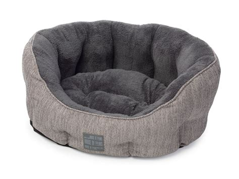 gray dog bed grey hessian oval snuggle dog bed by house of paws luxury dog beds
