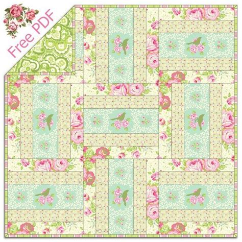 pattern for quilt as you go heather bailey s garden district free quilt pattern