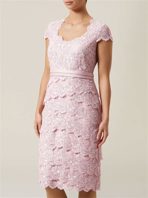 Light Pink Wedges Jacques Vert Lace Tiered Dress In Pink Lyst