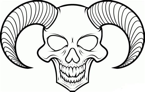 easy skull coloring pages for kids fitfru style