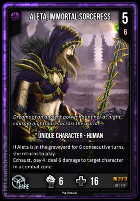 infinity wars aleta aleta immortal sorceress infinity wars atcg wiki