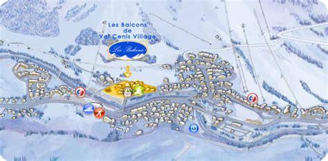 Location appartement Les Balcons De Val Cenis Village : plan d'accès résidence Les Balcons De