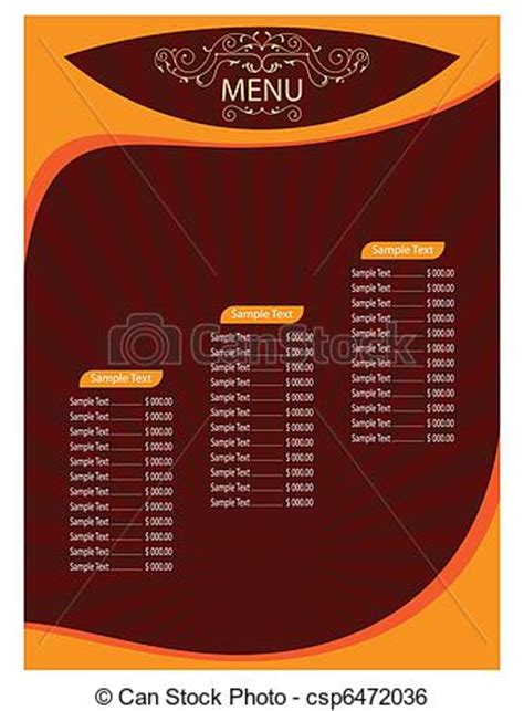 hotel menu card template menu card template