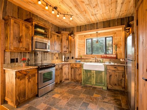 log cabin kitchen cabinets