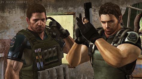 chris redfield re5 and chris redfield re6 by