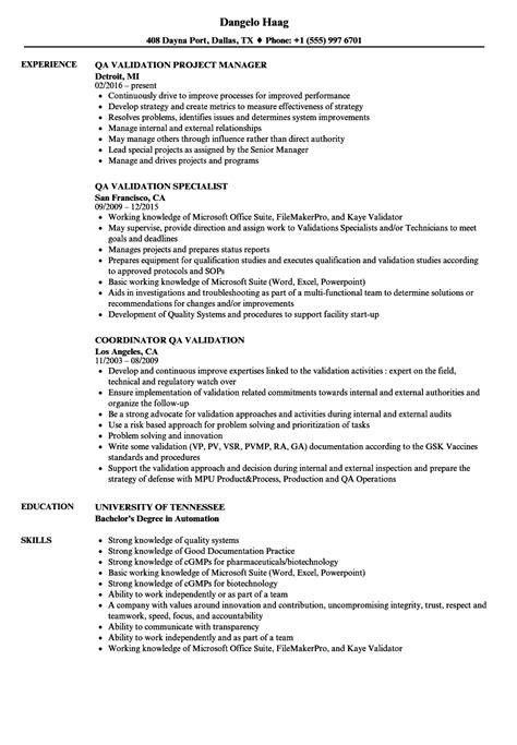 Qa Validation Resume Sles Velvet Jobs Csv Resume Template