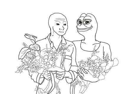 Meme Coloring Book - pepe meme coloring page coloring pages