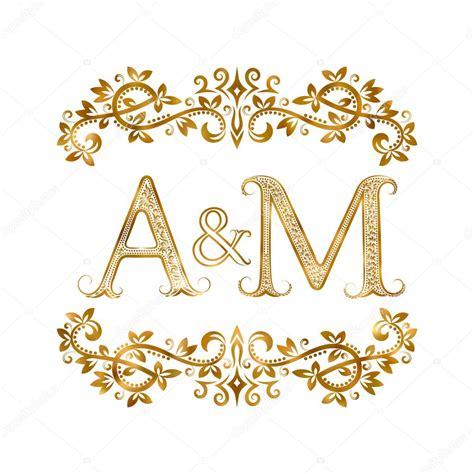 M A G E a m iniziali vintage logo simbolo vettoriali stock