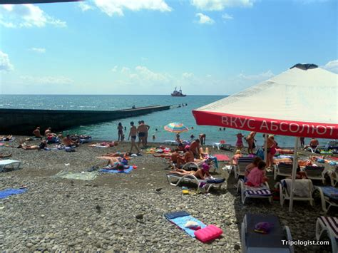 russian beach the beautiful beach resort of sochi russia in photos