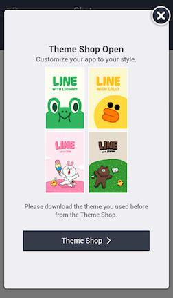 themes line shop line เป ด theme shop เร ยกเง นสาวกบน android เพ มแล วจ า