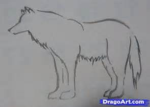 how to draw a simple tribal wolf step by step tribal