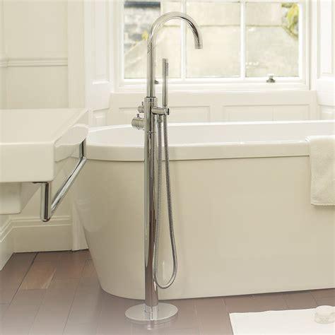 floor mount bathtub faucet modern single control thermostatic tub shower faucet floor mount swivel spout ebay