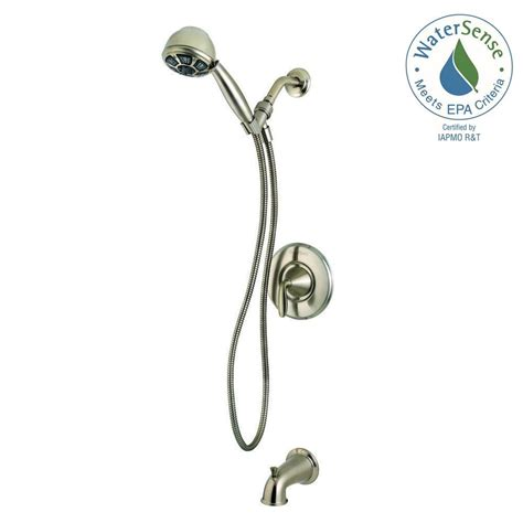 3 Handle Tub And Shower Faucet Brushed Nickel by Pfister Pasadena Single Handle 3 Spray Tub And Shower