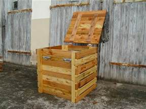 pallet storage box pallet wood projects