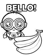 baby minion coloring page minions coloring pages book for free to print gru bob