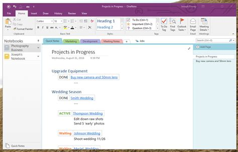 my onenote wishlist new features and fixing some old ones