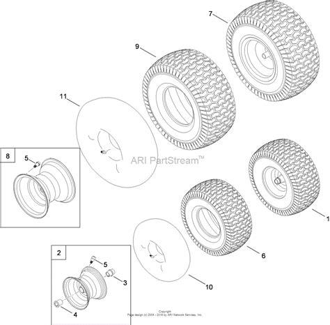 tire diagram toro 13ax90rs848 lx423 lawn tractor 2010 sn 1 1 parts