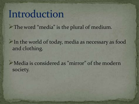 What Is The Plural Of Mba by Of Media In Current Scenario
