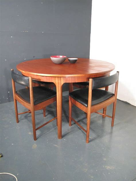 mcintosh teak dining table and chairs retro 60s