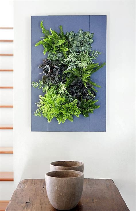 living wall vertical planter buttermilk wood frame kit